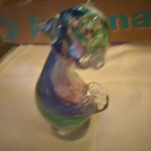 Murano glass cat solid